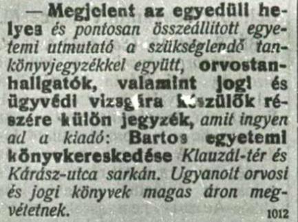 Szeged, 1921. október 16.