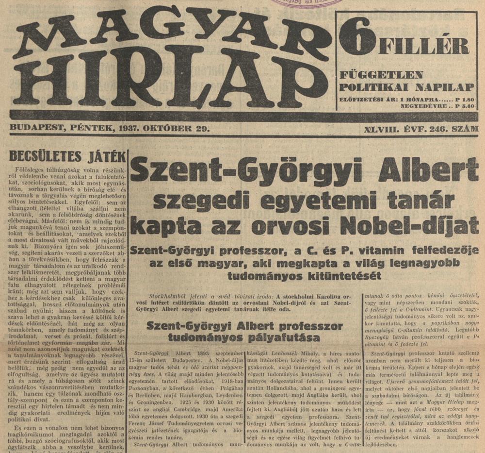 Magyar Hirlap, 1937, 48. évf. 246. sz.