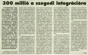 Délmagyarország, 1996. november 20., p. 8.