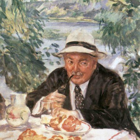 Csók István: Keresztapa reggelije (1932)