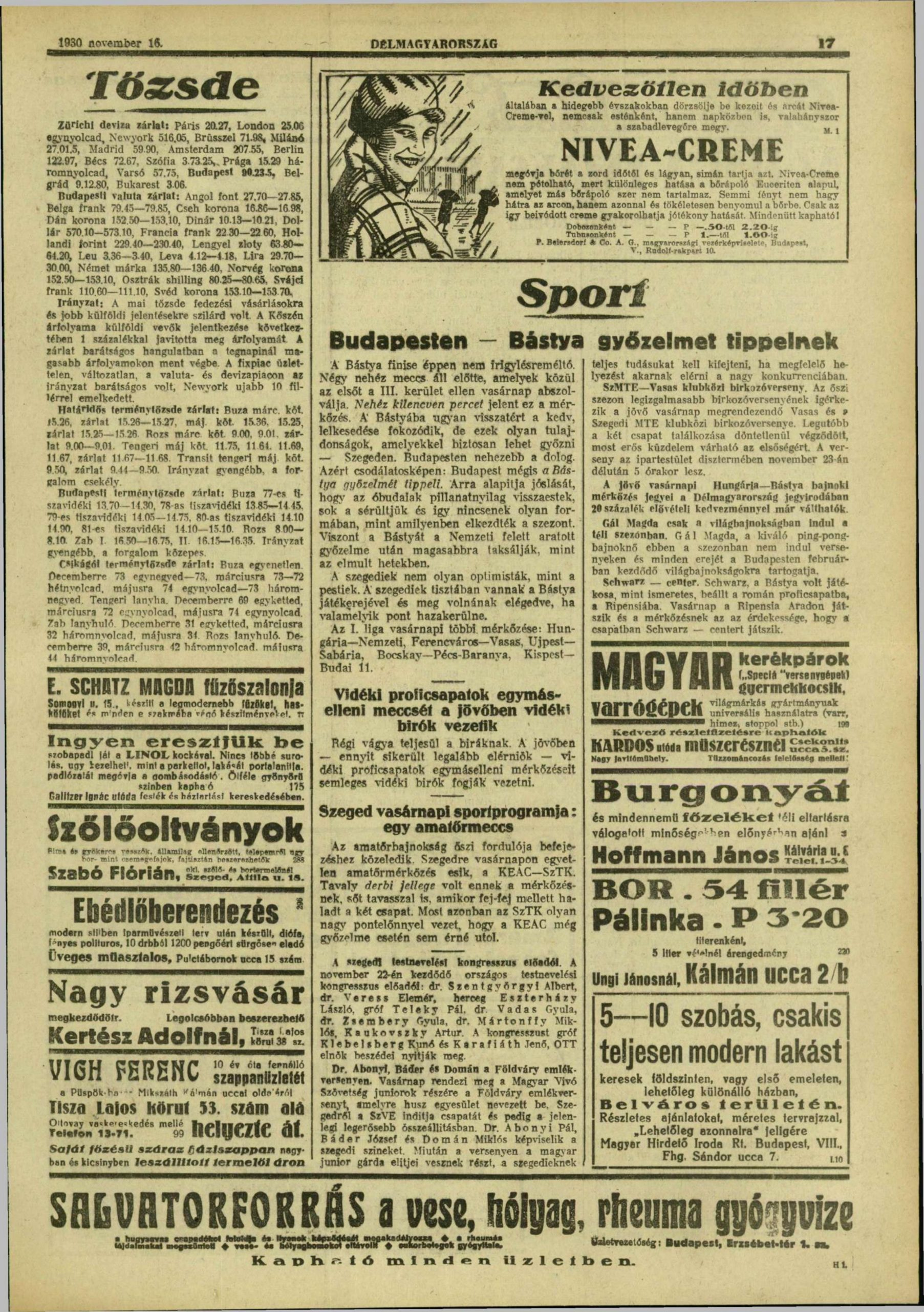 Délmagyarország, 1930. november, 151. oldal