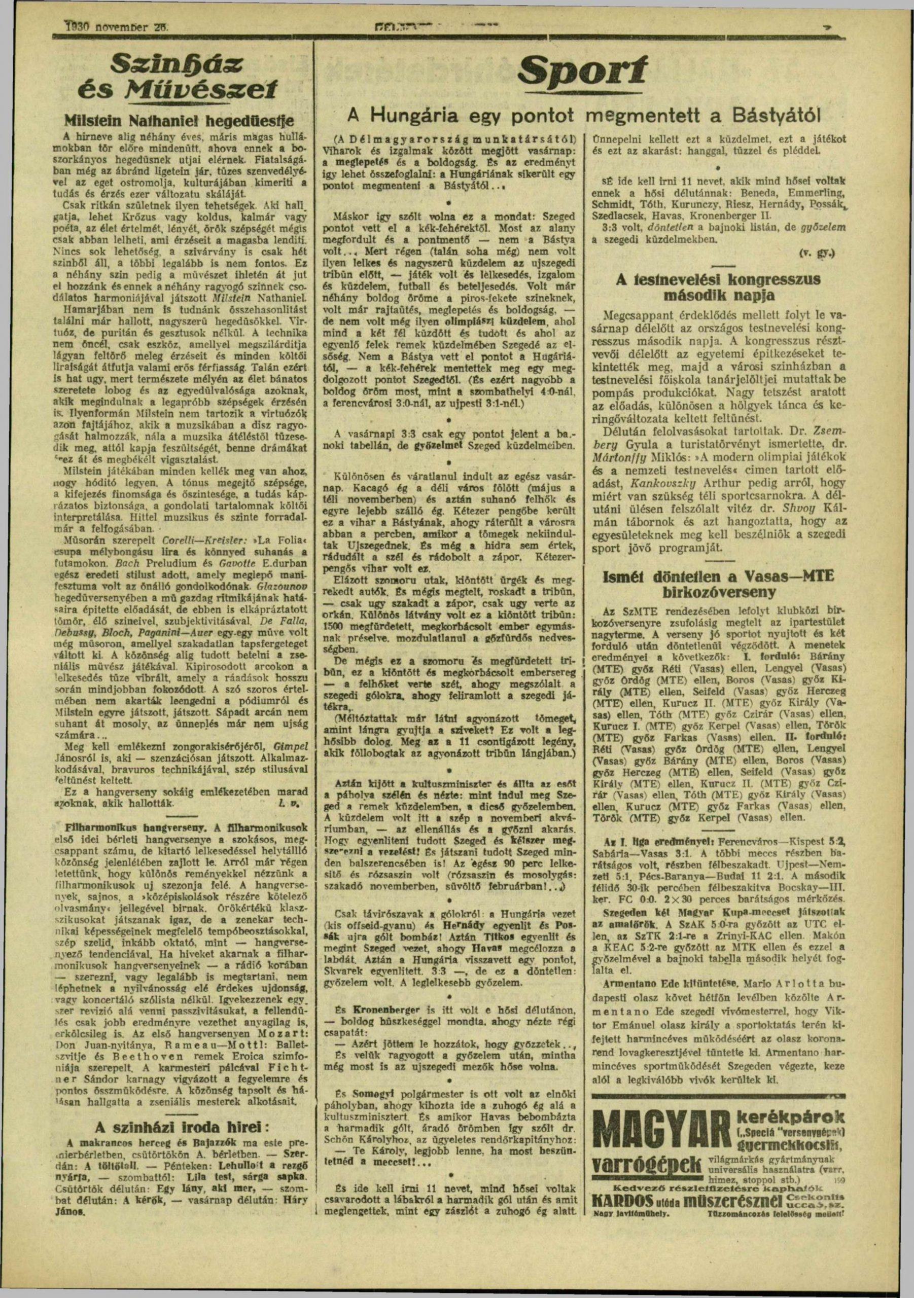 Délmagyarország, 1930. november, 223. oldal