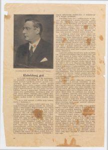 Klebelsberg gróf. In: Új idők, 1927. Forrás: SZTE Miscellanea.