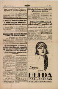 A Palazzo Falconieriben lesz a római Magyar Akadémia. In: Az Est, 1927. Forrás: ADT.