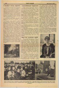 A kormányzó vasárnap megnyitotta a termszettudományok kongresszusát. In: Pesti Hírlap, 1926. Forrás: ADT.