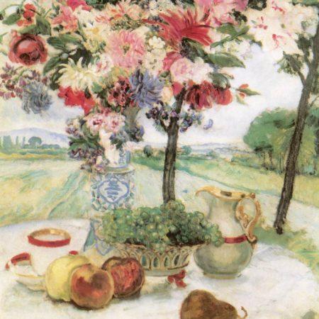 Csók István: Virágcsendélet/Reggeliző asztal (1913)
