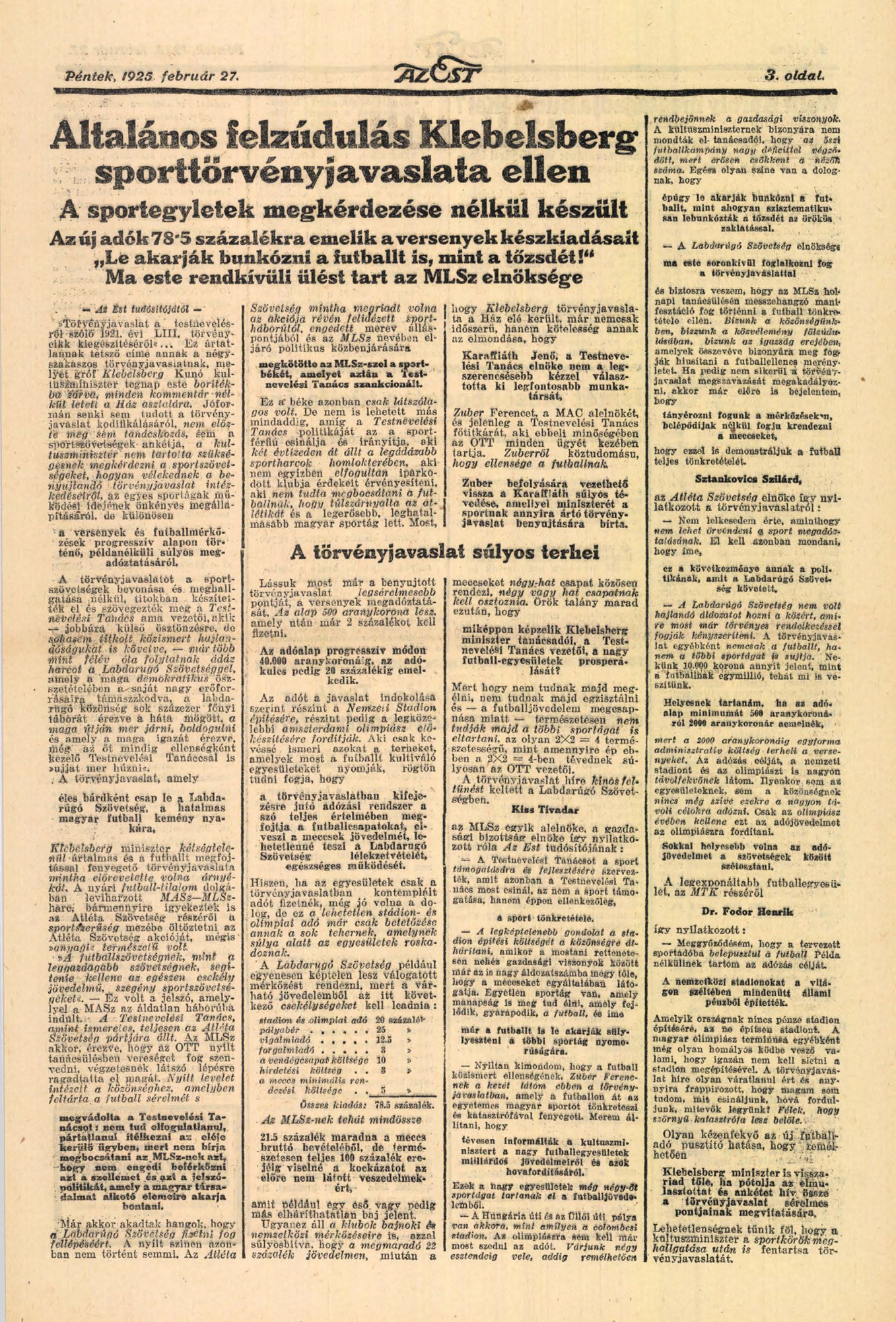 Az Est, 1929. augusztus (20. évfolyam, 172-195. szám)